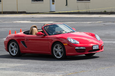 photo of Andrew King in his 2009 Boxster