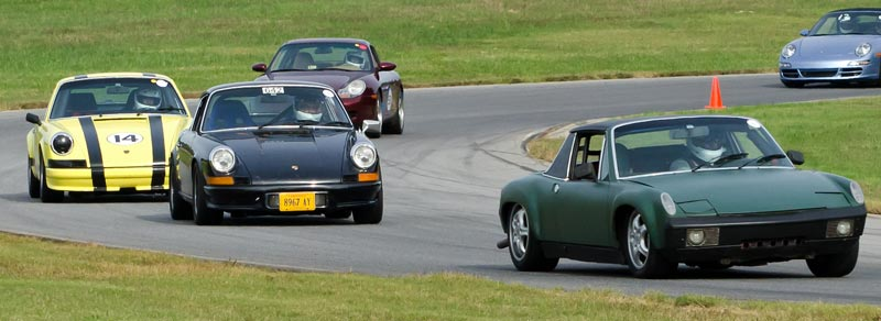 Porsches at Euroclassics and  Shenandoah Region PCA driver ed at VIR