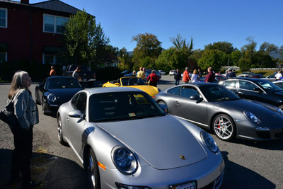 photo of Porsches on 2016 Fall Foliage Tour
