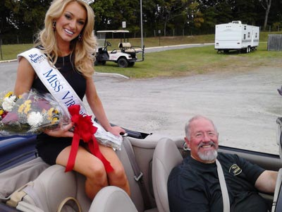 Photo of Miss Virginia with Greg Glassner