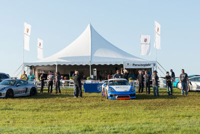 photo of the Porscheplatz tent