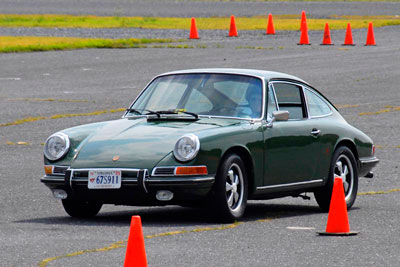 Photo of Clint Shuler in his 1967 911S at Verona