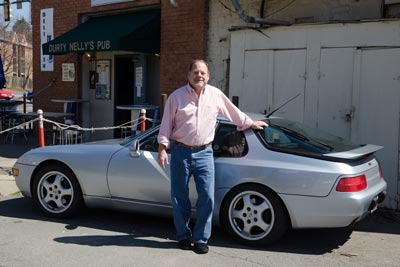 Photo of Gary Hagar with his 968 at Durty Nelly's