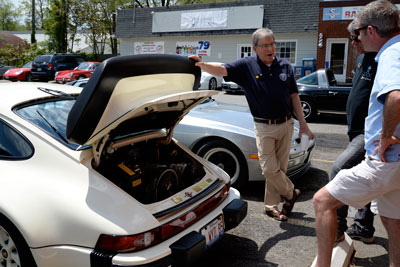 photo of Hank Weil and his widebody 911