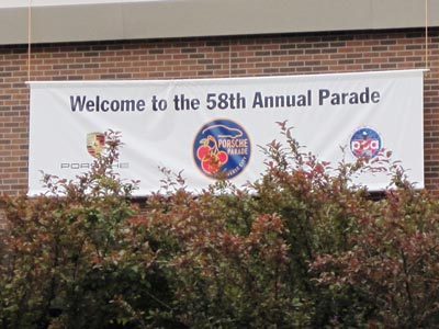 2013 Parade welcoming banner
