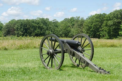 Cannon at Chancellorsville
