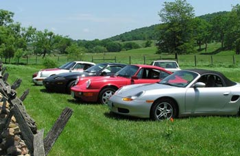 Porsches in Shenandoah Valley