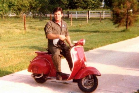 Photo of Keith Welty on his Vespa
