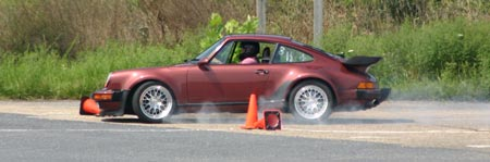 photo of car at autocross